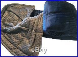 Navy & Charcoal Luxury Weighted Sensory Blanket-25lb 48x70