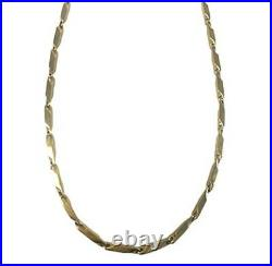 New Nikken Kenko Perfect Link Magnetic Necklace Stainless Steel Gold Plated