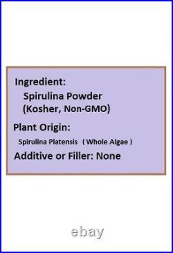 NuSci 100% Pure Spirulina Powder 5Kg (11LB) GMO Free & Non-Irradiated