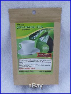 Organic Guyabano Tea / Soursop Tea / Graviola Tea 100% Pure Organic Leaves