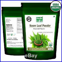 Organic Neem Leaf Powder 1 Lb (16Oz). All Natural, USDA Certified Organic