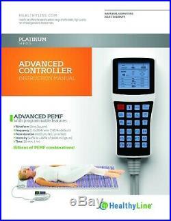 PLATINUM Multi-Wave PEMF MAT Infrared Heated Amethyst Pad HealthyLine 60 x 24