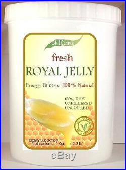 ROYAL JELLY PURE AND FRESH (1kg / 2.2 lb) Free Priority Shipping