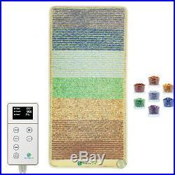 Reiki Rainbow Bio Chakra Crystal Mat Heated PEMF Infra Therapy HealthyLine 4020