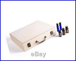 SOLIGT 72 Bottle Wooden large Essential oil storage Box/Case Holder Display Case