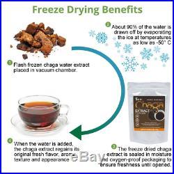 Siberian Chaga Mushroom Extract Powder Freeze Dry 1 Lb / 454g Wild Organic Tea