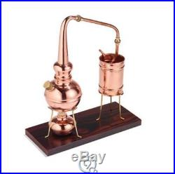 The Classic European Copper Distiller Oil Perfume Fragrant Walnut Wood Base