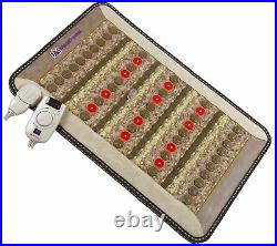 ThermoGem FIR PEMF 1-30Hz Red Light Jade Tourmaline Amethyst Heating Pad 20x32
