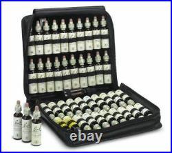 Three Bach Original Flower Remedies leather set, 20 50g rescue cream20 drops 20ml