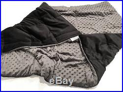 Ultra Soft Breathable Grey Minky Weighted Sensory Blanket 20lb 48x70