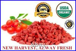 Usda Organic Goji Berries Wolfberry Berry Grade Aaaa+++ From Ningxia, 16oz-10 Lb