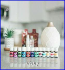 Young Living 12 Essential Oils Lot & Diffuser Premium Starter Kit Bundle