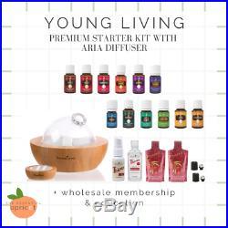 Young Living ARIA Diffuser 13 Essential Oils Premium Starter Kit & MEMBERSHIP