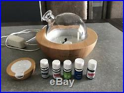 Young Living Aria Essential Oil Diffuser PRE-OWNED excellent condition 5 Oils