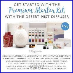 Young Living Essential Oil Premium Starter Kit, Desert Mist Diffuser /membership