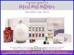 Young Living Premium Starter Kit 11 Essential Oils & Desert Mist Diffuser