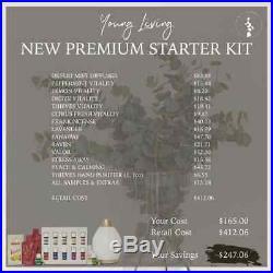 Young Living Premium Starter Kit 12 Oils (Valor & PC) & Desert Mist Diffuser